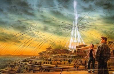 luis royo jumping off the planet