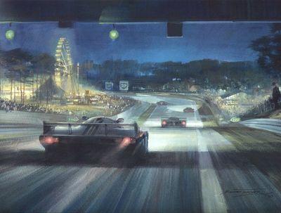 Cma 080 1983 night scene at le mans