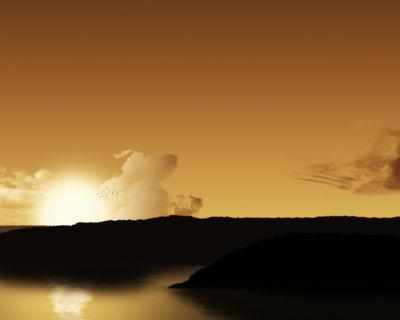 x1024 right Sunset Lake by pepo