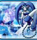 lue pose blue wallpaper