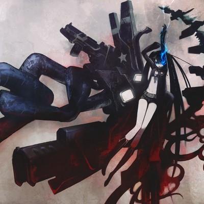 black rock shooter hatsune miku vocaloid