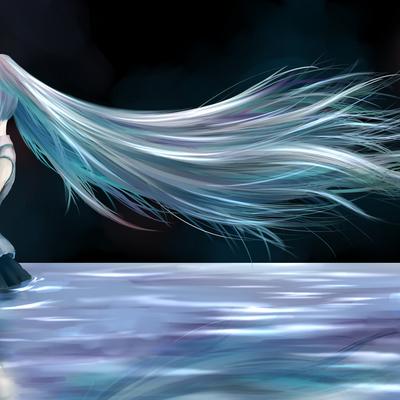 hatsune miku moon vocaloid