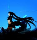 black rock shooter blue vocaloid