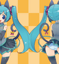 animal ears bell catgirl elbow gloves hatsune miku headphones microphone panties sk~0