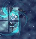 blue hatsune miku vocaloid