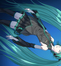 hatsune miku long hair necktie skirt sukua thighhighs twintails vocaloid