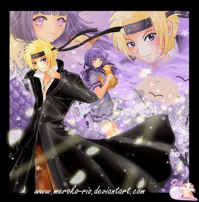 Naruto and Hinata   by Meroko rio