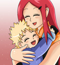 Kushina and Naruto by dbzfannie