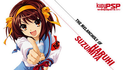 haruhi suzumiya psp wallpaper