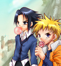 Naruto and Sasuke   Candy by Moogur