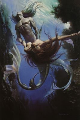 Boris Vallejo   Mirage 28 The Triton and th