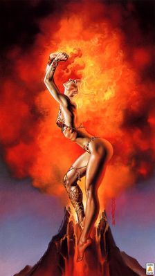 Boris Vallejo   Mistress Of Fire