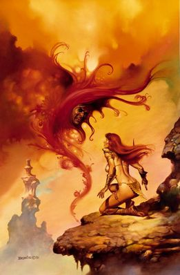 Boris Vallejo   Scarlet Menace