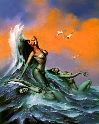 Boris Vallejo   Water Nymphs