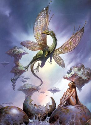 Boris Vallejo   dragons birth