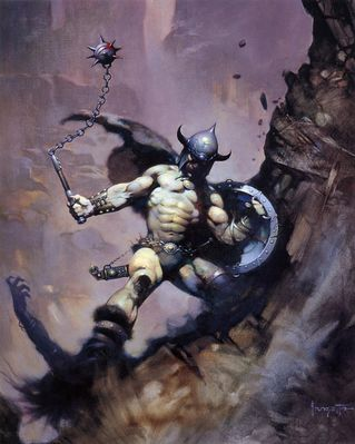 Frank Frazetta (Warrior With Ball And Chain HD)