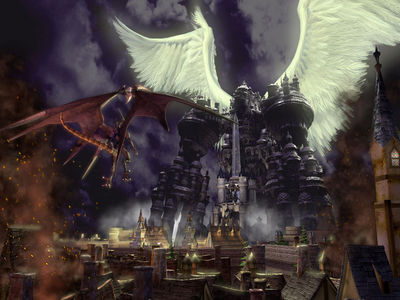 Giger   Final Fantasy IX  Bahamut vs Alexandre