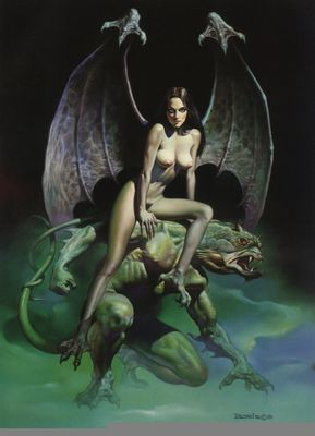 boris vallejo   mirage   incubus scarecrow angel