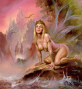 Boris Vallejo   Fairy of the Dragons Lair