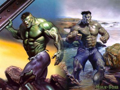 Hulk and grey hulk