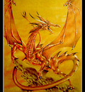 Dragon of flame