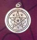 Heilsteine und Esoterik Schatten Pentagramm Anhaenger