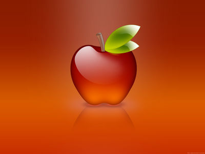 apple of glass red
