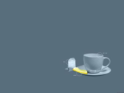 Cup of Tea     Hombre Abu  with description blue