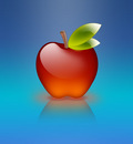 apple of glass blue