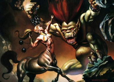Boris Vallejo AmazonCentaur Demon