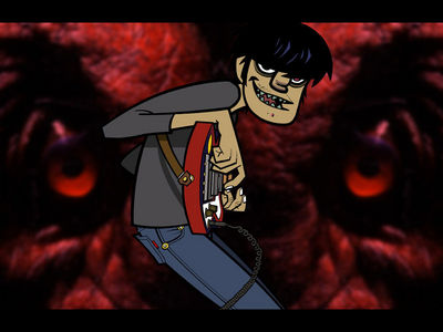 Gorillaz Murdoc with Satan
