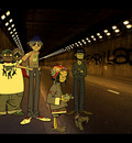 Gorillaz in Tunnel