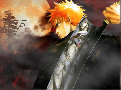 Ichigo by the full moon