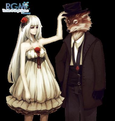 Fille Rose Soie Voilette Renard Chapeau Costume Wolfs H