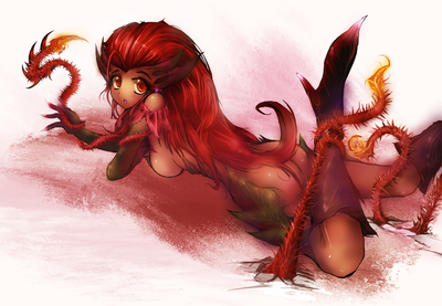 zyra league of legends by dedor d58wwc9