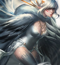 playful snow harpy by sakimichan d5odkw1